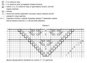 Шаль болотный кипарис - Схема 1