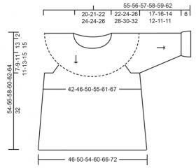 Пуловер Летний вечер - Выкройка 1