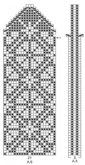 Шапка с жаккардовым узором - Схема 2