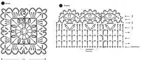 Шелковое болеро - Схема 2