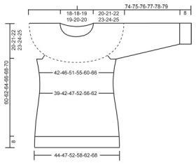 Пуловер с круглой кокеткой и норвежским узором - Выкройка 1