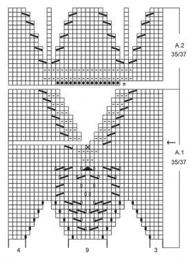 Тапочки снежная сказка - Схема 2
