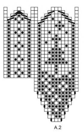 Варежки сохатый - Схема 4