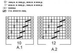 Кардиган Пиония - Схема 1