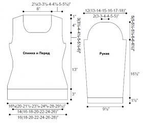 Пуловер Хироу - Выкройка 1