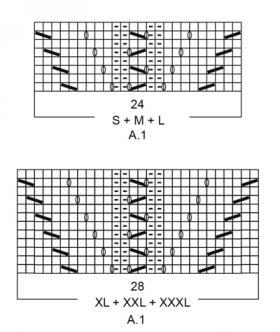 Джемпер голубой час - Схема 2