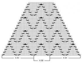 Топ реглан спицами с ажурными элементами - Схема 2