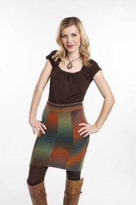 Прямая юбка с клиньями