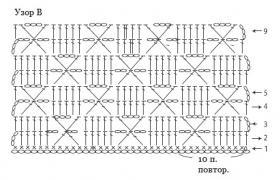 Жилет крючком с простым ажуром - Схема 2
