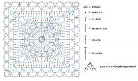 Уютный кардиган из мотивов - Схема 1