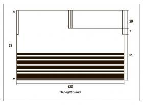 Пончо V-образным вырезом - Выкройка 1