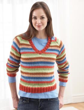 Красочный полосатый свитер