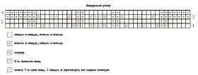 Шарф ароматный шалфей - Схема 1