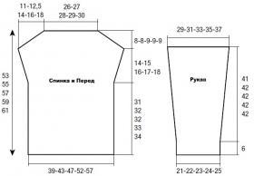 Свитер платочным узором с круглым декольте - Выкройка 1