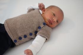 Кардиган для новорожденного - Фото 1