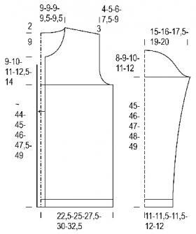 Кардиган Хвойное дерево - Выкройка 1