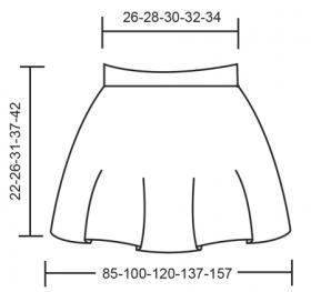 Юбка милый реверанс - Выкройка 1