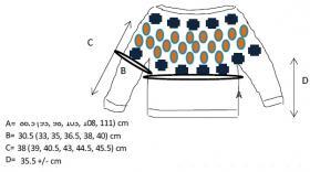 Пуловер Джига и Рила - Выкройка 1