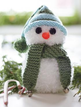 Снеговик Саймон спицами