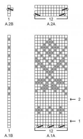 Кардиган Розовое дерево - Схема 2