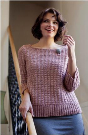 Пуловер с рукавом три четверти