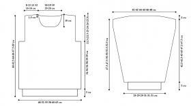 Пуловер с узором из аранов (Для него) - Выкройка 1