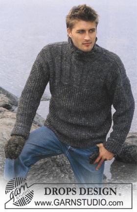 Фактурный пуловер с высоким воротником