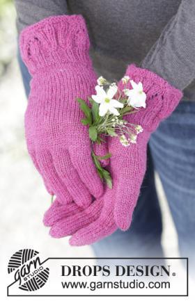 Перчатки с узором на манжете