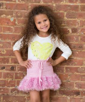 Короткая юбка крючком для девочки