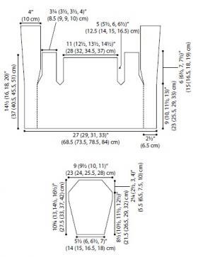 Кардиган со жгутами и шалевым воротником - Выкройка 1