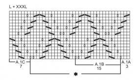 Свободный джемпер с ажурным узором - Схема 1
