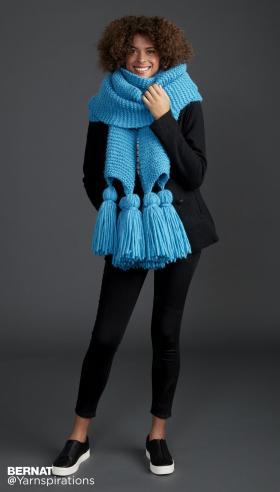 Большой шарф с кисточками - Фото 1