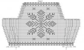 Свитер с узором из снежинок - Схема 2