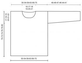 Свободный джемпер платочной вязкой - Выкройка 1