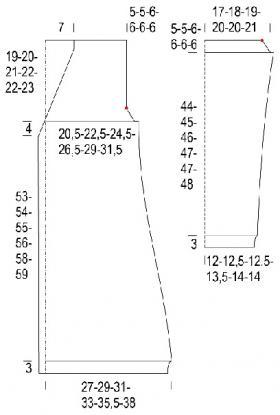 Кардиган узором рис с меланжевым эффектом - Выкройка 1