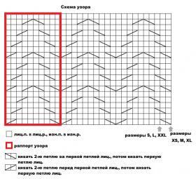 Безрукавка с узором елочка - Схема 1