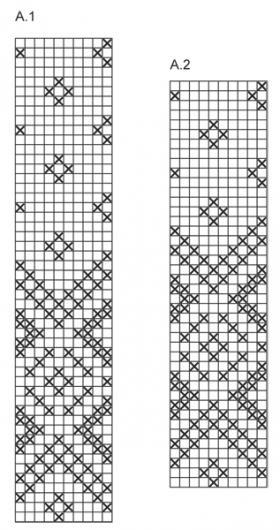 Комплект с жаккардовым узором из ромбов - Схема 1