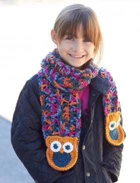 Цветной шарф-сова