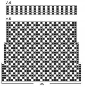 Жаккардовые носки с диагональным узором - Схема 4