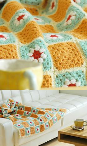 Одеяло из цветных мотивов - Фото 1