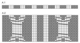 Свитер реглан с большими аранами - Схема 1