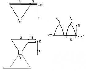 Бикини крючком из стрейч хлопка - Выкройка 1
