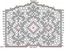 Свадебное болеро крючком филейным вязанием - Схема 1