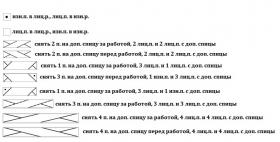 Снуд с анарами и градиентом - Схема 1