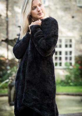 Пальто меховое спицами - Фото 3