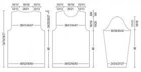 Пуловер с узором из пышной резинки - Выкройка 1