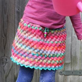 Цветная юбка с шишечками