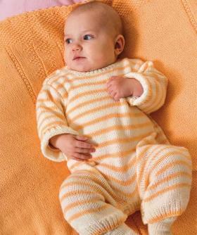 Полосатый комбинезон для малыша