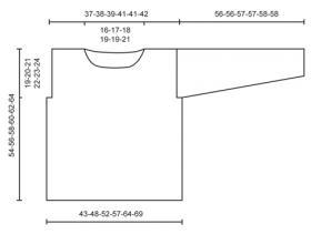 Джемпер спицами с ажурной сеткой и жгутами - Выкройка 1