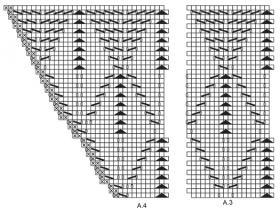 Шаль нежные листья - Схема 2
